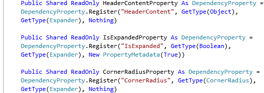 Expander.vb Dependancy Properties